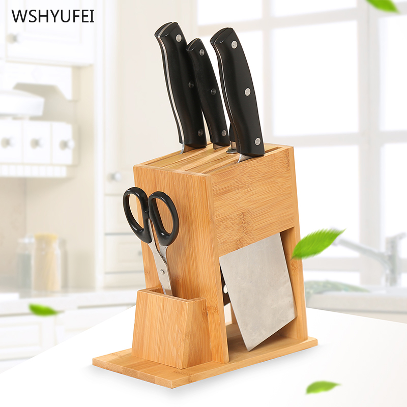 Kitchen Knife Rack Kitchen Knife Shelf Storage Rack Rack Multi-function Tool Holder Knife Holder Household Bamboo Tool Supplies