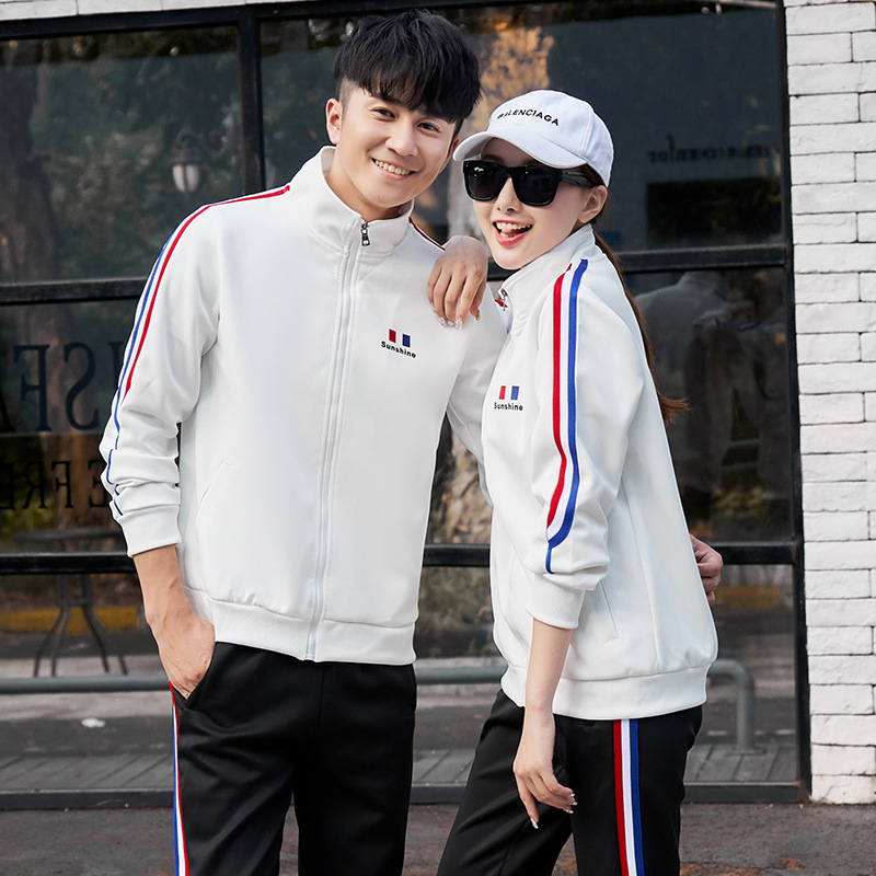 Spring And Autumn Men Long-sleeve Sweater Set Korean-style Trend Couples Men'S Wear Spring Clothing Teenager Students Sports Hoo