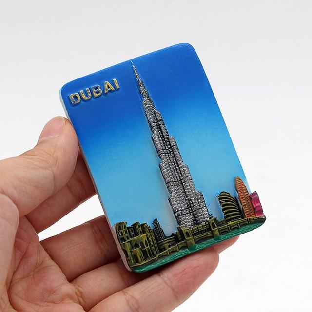 Dubai sailing Hotel souvenir 3D fridge magnets magnetic refrigerator paste home decoration Dubai architecture Collection Gifts 4