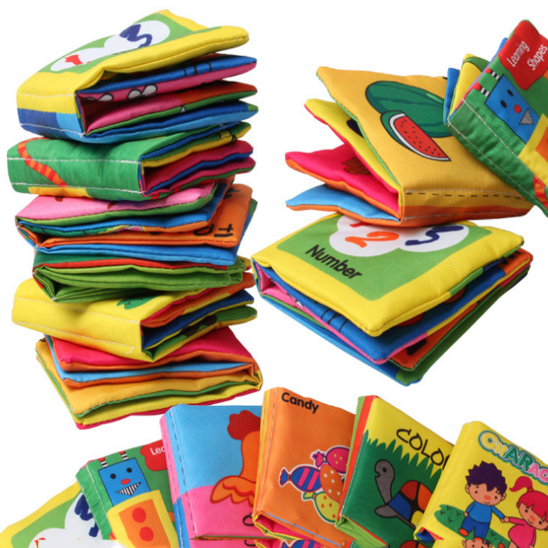 1 Pcs/set Creative Baby Soft Quit Activity Cloth Books Newborn Infant Rustle Sound Educational Stroller Rattle Bed Toys