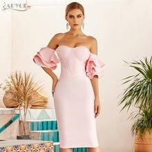 Adyce 2021 Новое летнее женское розовое облегающее платье с