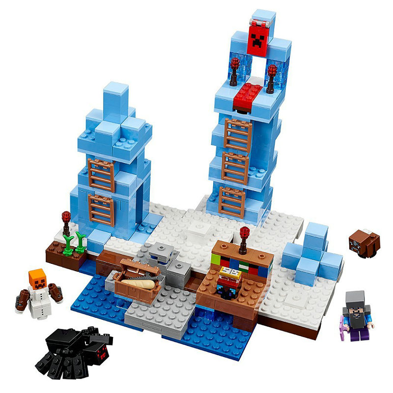 The Ice Spilkes Building Blocks With Steve Action Figures Compatible LegoINGlys MinecraftINGlys Sets Toys For Children 21131 1