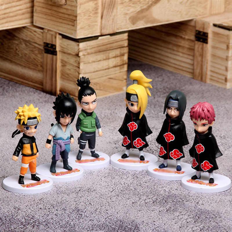 6 יח'\סט יפן אנימה נארוטו פעולה דמויות אוזומאקי נארוטו Hatake קאקאשי Haruno סאקורה גאארה צלמית pvc דגם צעצועי בובת מתנות