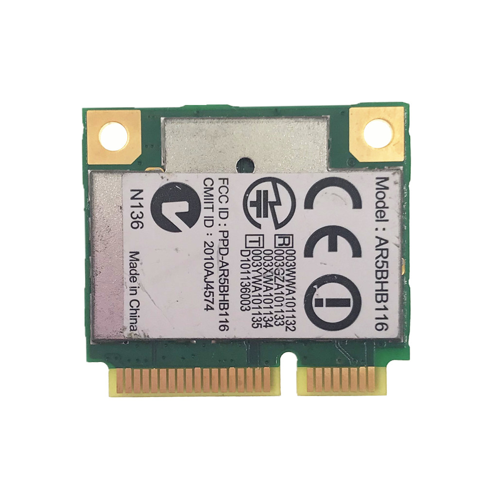 AR5BHB116 Athores AR9382 300Mbps 2.4&5G WiFi Wireless Network Card Mini PCI-E For Win 7/8/8.1/10/Linux