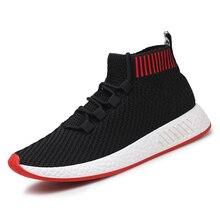 Mens Sneakers Outdoor Socks Shoes for Men Jogging Walking Footwear Breathable Fl