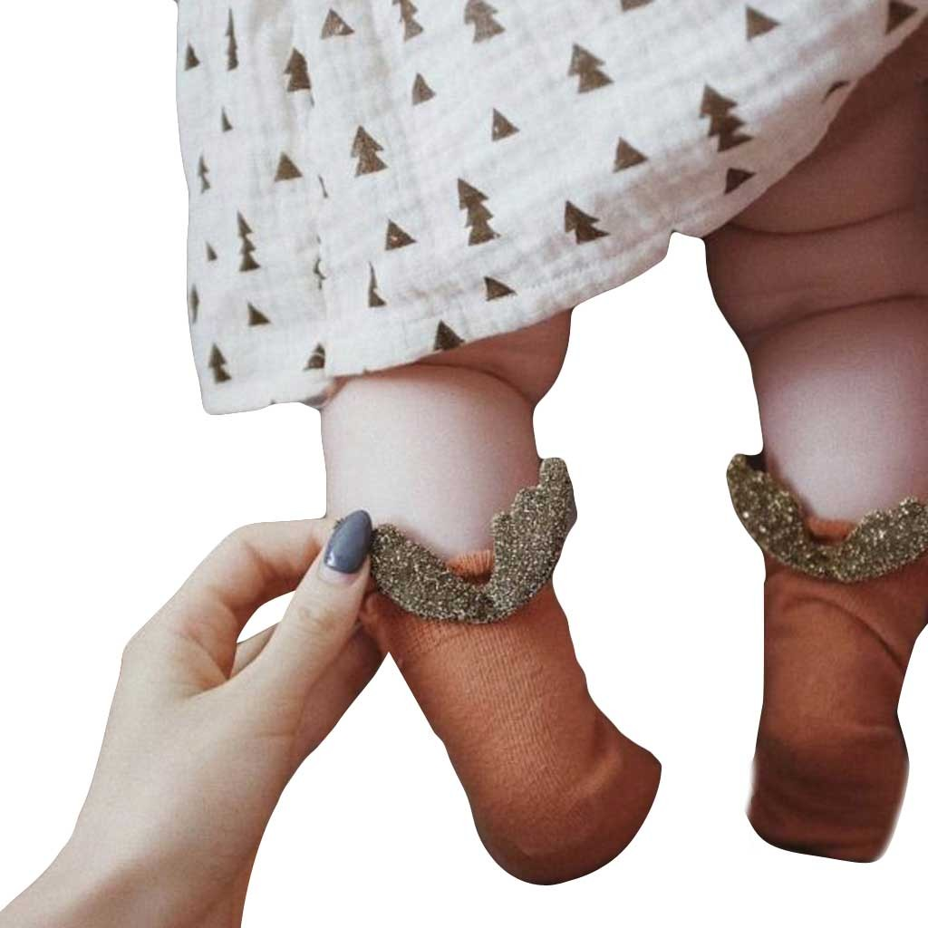 Baby Foot Socks Soft Novelty Air Conditioning Summer Cute Wing Cotton Baby Kids Girls Toddlers High Socks WinterWalkers For Baby