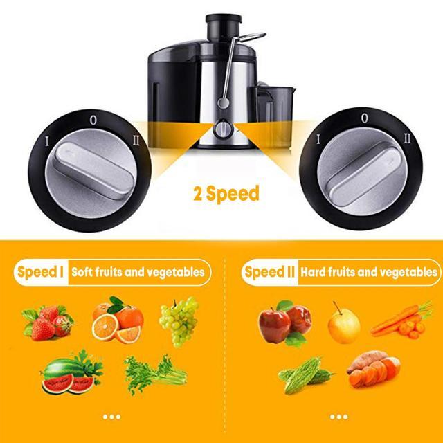 800W 220V Electric Juicer Stainless Steel Juicers Whole Fruit Vegetable Food-Blender Mixer Extractor Machine 2 Speed Adjustment 4