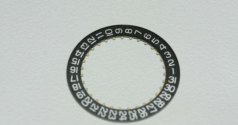 Generic H3 Black Date Indicator Date Wheel 2557/1 For ETA 2804-2 2824-2