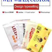 Wet Tissue Customized Logo Catering-Advertising Hotel Printing