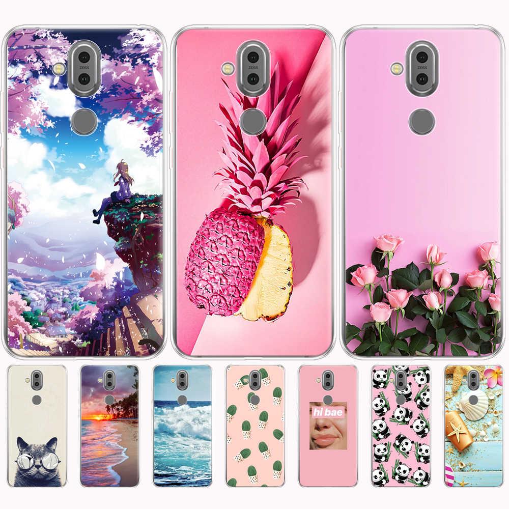 สำหรับ Nokia 8.1 สำหรับ Nokia 7.1 plus 2018 ซิลิโคนโทรศัพท์ TPU นุ่มสำหรับ Capa Nokia 8.1/X7 2018 กันชน coque etui