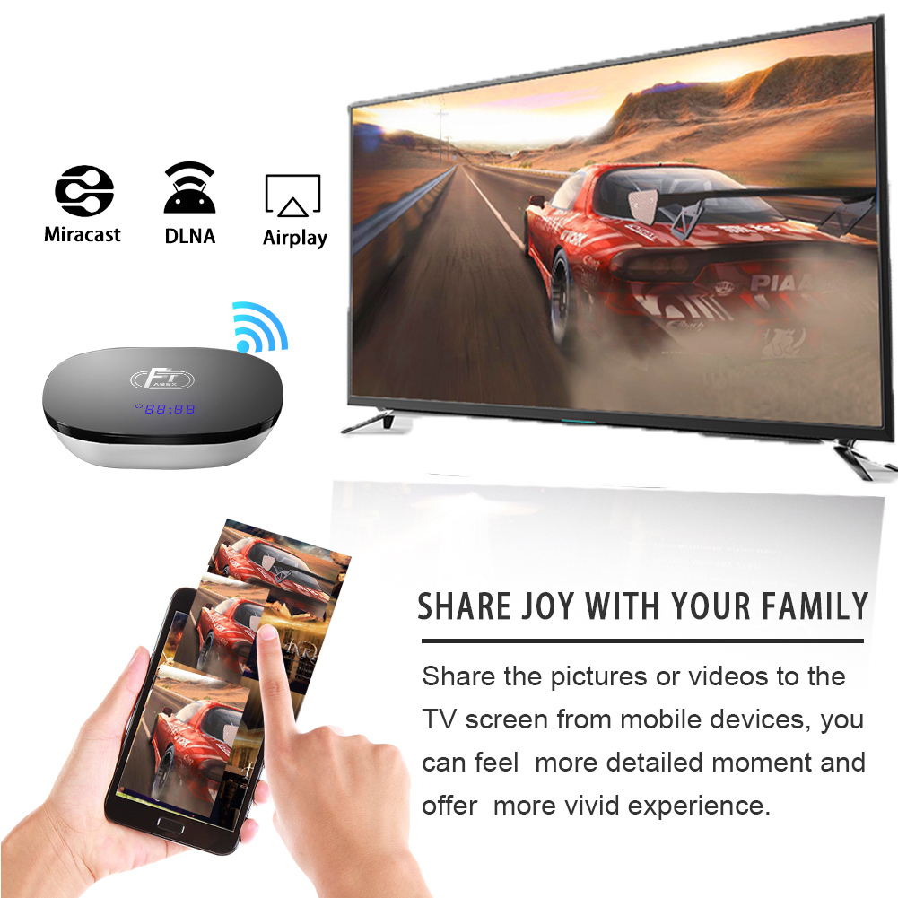 Image 3 - A95X F1 Android 8.1 TV Box Amlogic S905W Quad Core Android Digital TV BOX Support 4K WIFI HDMI RJ45 Media Player Set Top Boxes-in Set-top Boxes from Consumer Electronics