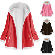 Winter Thicken Warm Faux Fur Coat Fashion Vrouwen Hooded Soft Fleece Rits Vest Vrouwelijke Casual Jassen Plus Size 5XL Dropship(China)