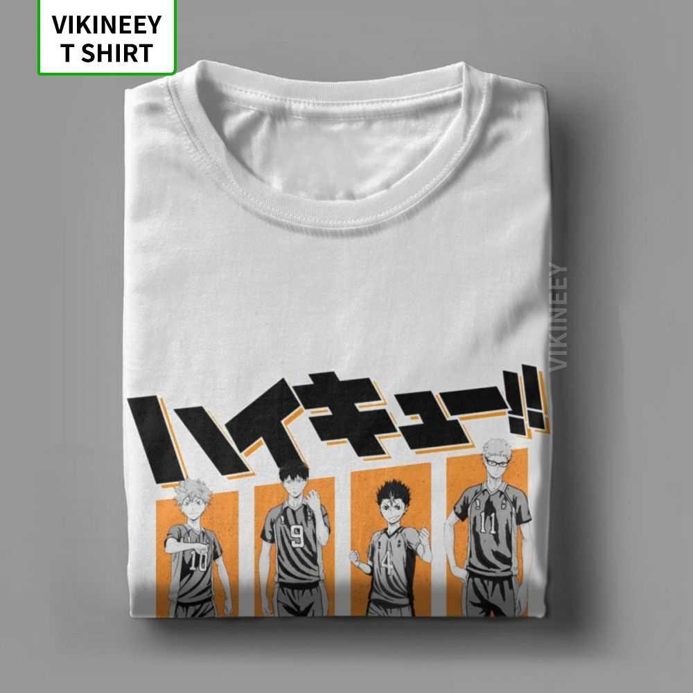 Haikyuu T-Shirt męski Kuroo Anime Bokuto Oya Manga Shoyo siatkówka śmieszne 100% bawełna Tee koszulka z krótkim rękawem Plus rozmiar