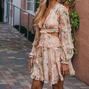 BONJEAN летнее пляжное мини-платье на тонких бретельках с открытой спиной, сексуальное облегающее короткое платье с глубоким v-образным вырезо...