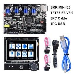 BIGTREETECH SKR MINI E3 V1.2 32 Bit Board + TFT35-E3 V3.0 pantalla táctil E3 DIP TMC2209 TMC2208 piezas de impresora 3D para Ender-3 CR-10