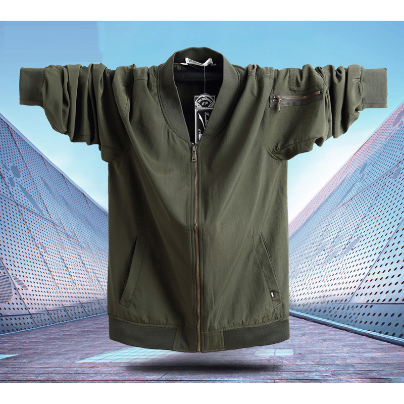 Image 2 - Military Pilot Jackets Men Winter Autumn 2020 Bomber Big Size 7xl  Coat Tactical Green Jacket Male Casual Air Flight JacketJackets   -