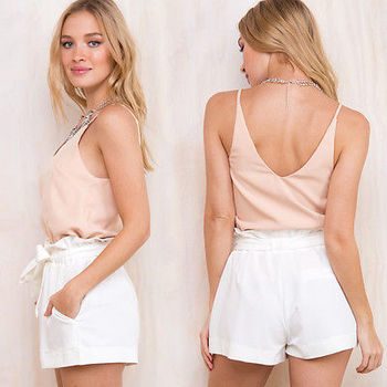 Summer Sexy High Waist Shorts Women Casual Solid Bow Short Beach Black White Shorts Trousers Mujer Feminino 10
