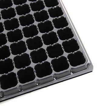 10Pcs/set 12 Holes Adjustable Hole Nursery Tray Seedling Box Plant Grow Kit with Water Tray and Transparent Cover