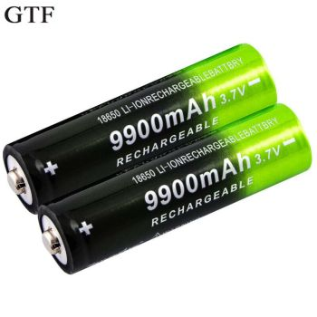 GTF 3.7V 18650 9900mAh Rechargeable Battery High Capacity Li-ion Rechargeable Battery For Flashlight Torch headlamp Battery 1