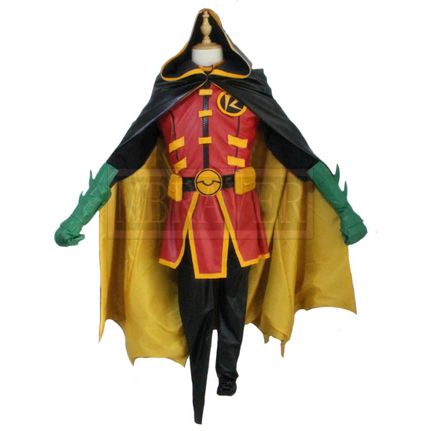Hot! Batman Justice Robin Halloween Cosplay Costume Custom made