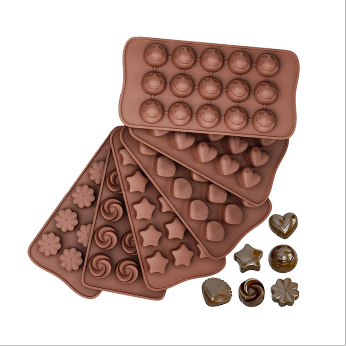 Creativity silicone chocolate fructose cake baking mold pudding ice grid candy shaping silicone mold  smiley, heart, animal