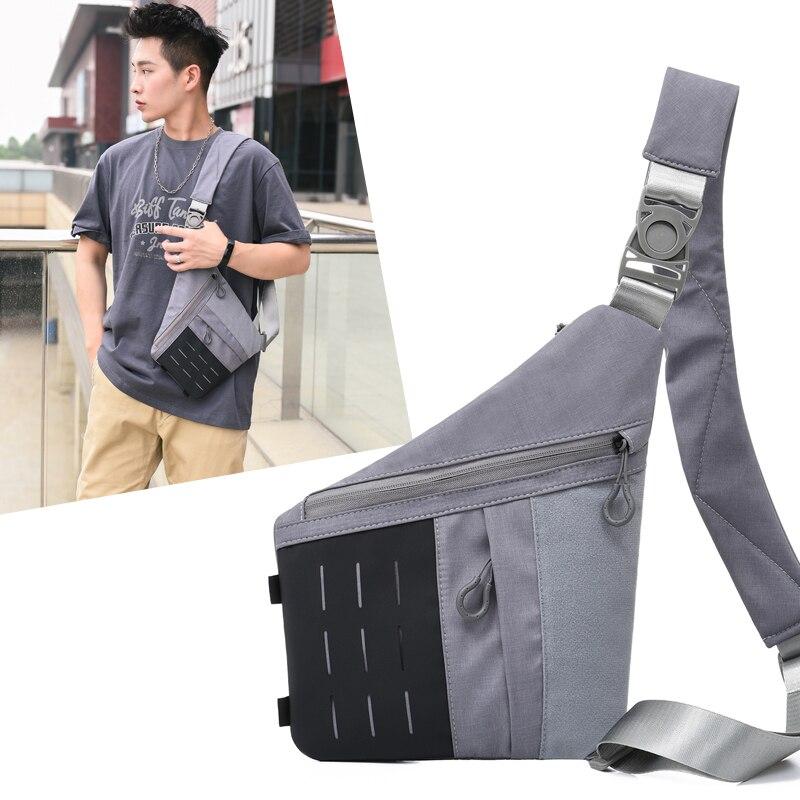 Bolsa de viagem masculina fino saco de ombro à prova de burglarproof novo diário carry pack coldre anti roubo segurança cinta de armazenamento digital sacos de peito