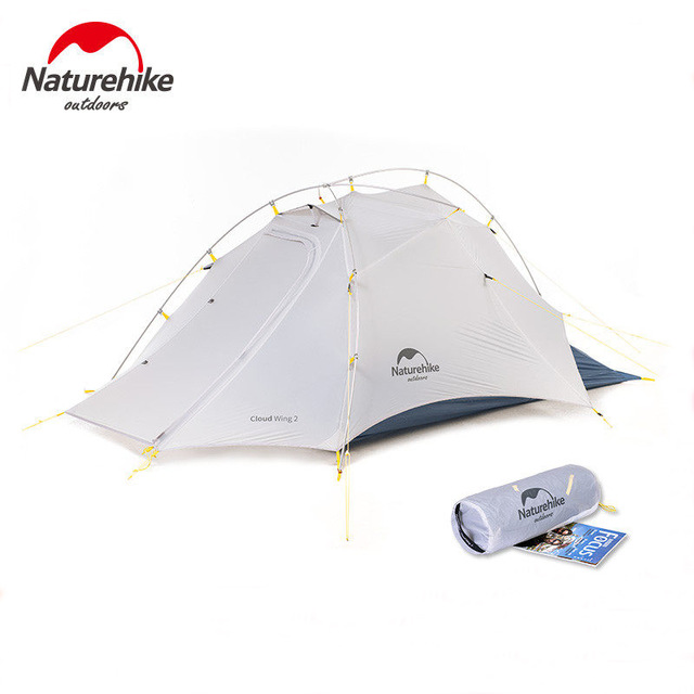 Naturehike Cloud Up Wing 2 Men Tent 15D Nylon Ultralight Portable Windproof Tents