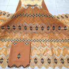 African Bazin riche fabric embroidered 2021 high quality Bazin riche getzner brode 5 yards with Jacquard lace fabric Women Men