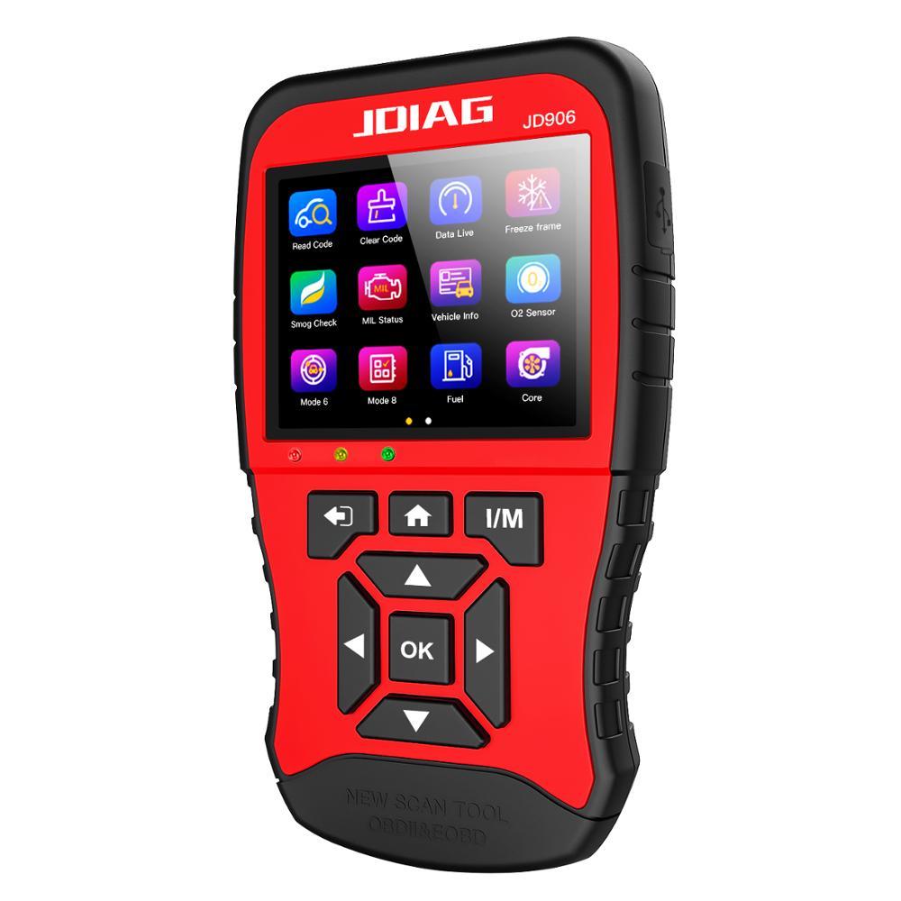 JDiag JD906 NEW Scan Tool  OBD2 Scanner  Full Engine Mode Diagnostic Tool  O2 Sensor  Mode6 Mode8  Code Reader