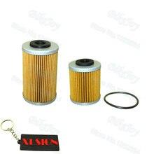 Long & short filtros 1st 2nd conjunto de filtro óleo para 250 400 450 525 540 pit bike motocicleta motocross