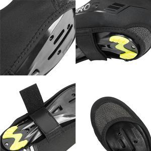Image 3 - ROCKBROS – couvre chaussures de cyclisme, coupe vent, garde au chaud, équipement de cyclisme, vtt, route, hiver