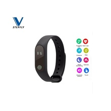 Free Shipping Smart Bracelet M2 Heart Rate Monitor Pedometer  Waterproof Bluetooth Smart Wristband For iOS Android