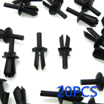 For BMW E12 E28 E30 E34 E36 E39 E46 E60 Car Rivets Model Left Rivets Nylon 20x Car Black image
