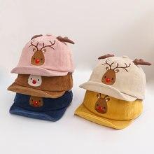 Милые детские бейсбольные кепки с рисунком лося для мальчиков