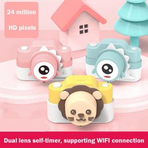 Image 1 - ALLOYSEED Kids Digital Camera Cute Cartoon 16G 24MP Digital Camera Photography Toys for Children Birthday Christmas Gifts