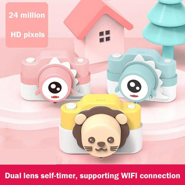 ALLOYSEED Kids Digital Camera Cute Cartoon 16G 24MP Digital Camera Photography Toys for Children Birthday Christmas Gifts