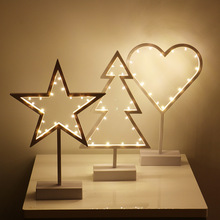 LED Five-pointed Star Light Creative Shape Night Light Explosion Style Christmas Decoration Decoration Light Lantern Star Heart creative color matching five pointed star pattern square shape pillowcase without pillow inner