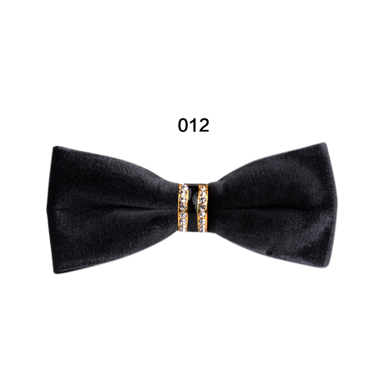 Newly Women Men Velvet Bowtie Formal Necktie Solid Party Wedding Banquet Bow Tie Gifts FIF66