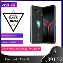 ASUS ROGโทรศัพท์2 Global Version Gamingphone 512GB ROM RAM 12GB ZS660KL OTA Update Snapdragon 855 Plus 6000MAh NFC Android9.0