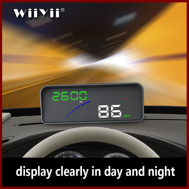 WiiYii P9 Auto HUD Head Up Display OBD II EOBD Parabrezza Proiettore Styling Due display del sistema di Auto Accessori Auto styling