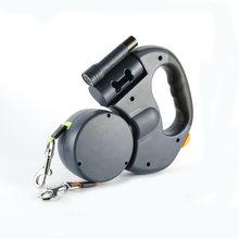 Dobro/única cabeça cão leashtraction corda pet extensível mão corda com diodo emissor de luz alça distribuidor 360 ° rotação corda de náilon