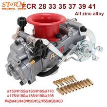 Motocicleta toda a liga de zinco carburador carburador 28 33 35 37 39 41 com jato de energia para fcr modificado para honda ktm crf 110cc 650cc