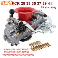 Motorcycle All Zinc Alloy Carburetor Carburador 28 33 35 37 39 41 With Power Jet For FCR Modified For Honda KTM CRF 110cc 650cc