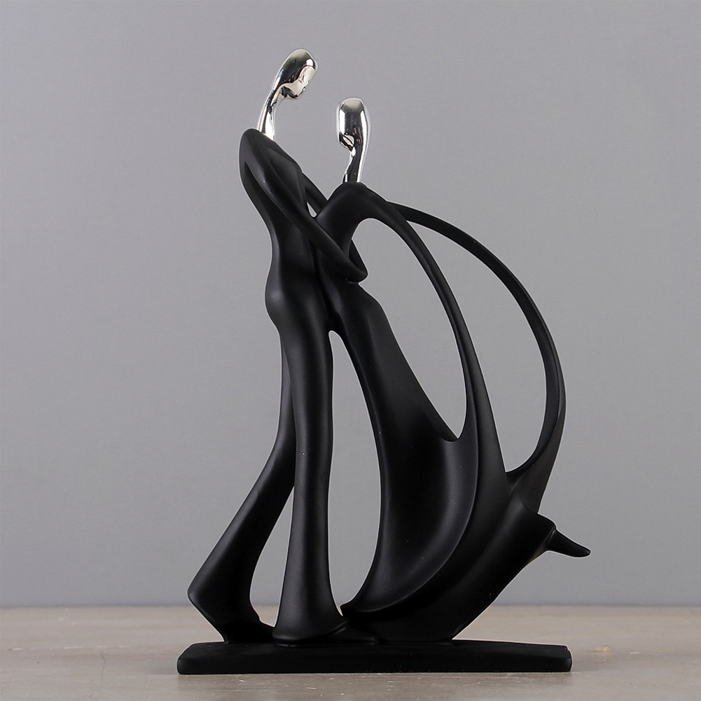 Carft Ornament Decoration Couple Sculpture Dancing Resin Gift Office Festival Home Simple Party Bedroom Desktop