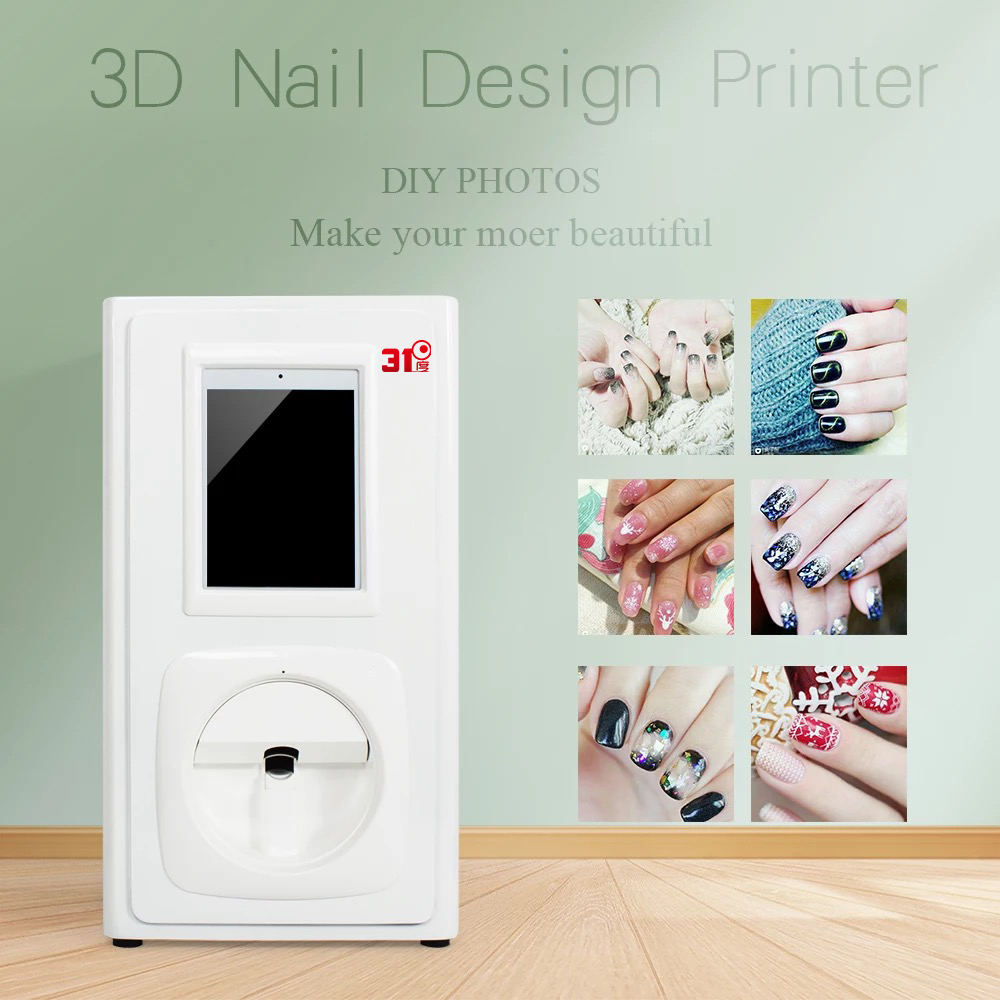 Nail Painter Finger Beauty Printing Graphic Photo Machine 3D Automatic Smart Nail Printer|Air Conditioner Parts| |  - title=