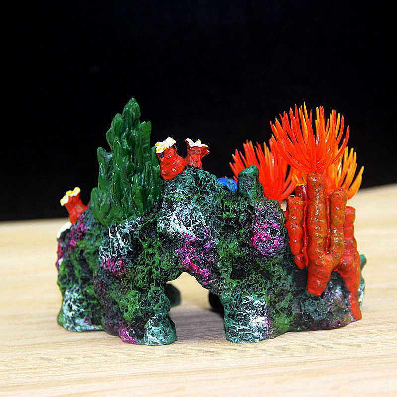 Réservoir de poissons aménagement d'arrière-plan, coquille de corail, résine rocheuse, faux arbre, fournitures de décoration d'aquarium