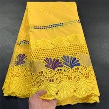Высокое качество Африканский нигерийский тюль, кружева ткань Свадебная вечеринка платье Swiss100 % хлопковая ткань с вышивкой из Дамаска 2,5 ярд...