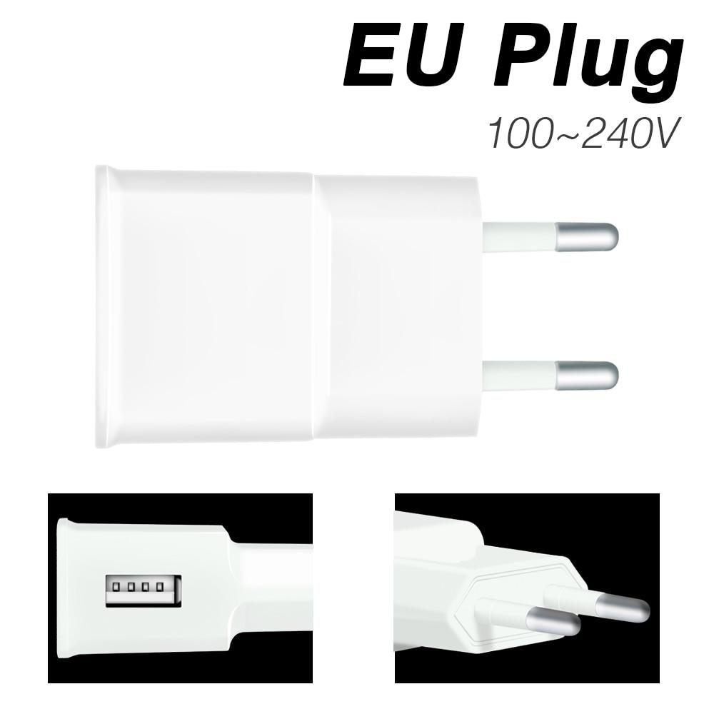 EU Plug Charger US Adapter USB Power Supply Cable Led Strip Light 220V Waterproof Lamp Tape Led Ribbon DC 5V Light Strip Fita