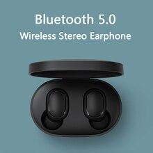 Xiaomi Redmi AirDotsไร้สายบลูทูธ 5.0 ชาร์จหูฟังIn EarหูฟังสเตอริโอเบสAIพร้อมไมโครโฟนหูฟังแฮนด์ฟรี