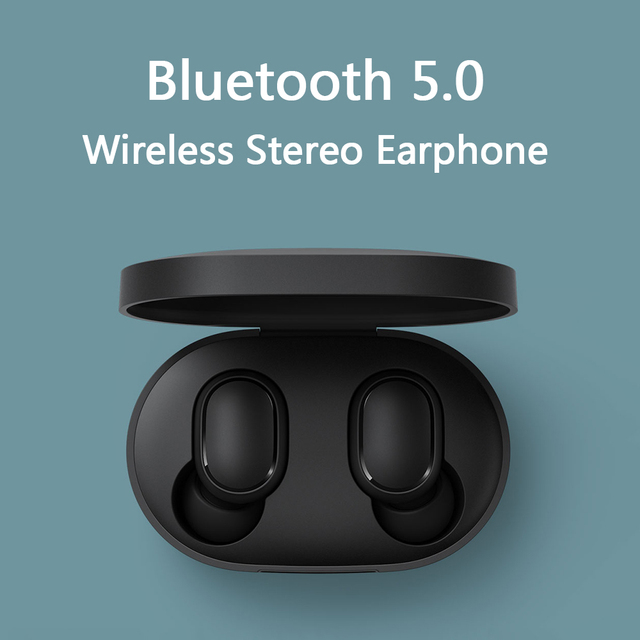 Xiaomi Redmi AirDots kablosuz Bluetooth 5.0 şarj kulaklık In Ear stereo bas kulaklık AI kontrolü mikrofon ile Handsfree kulaklık